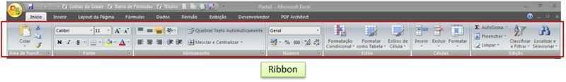 Ribbon Microsoft Excel (Faixa de Opções)