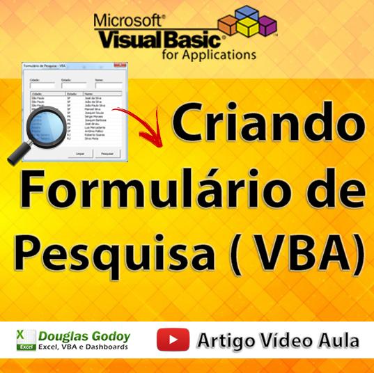 Formulário de Pesquisa com VBA