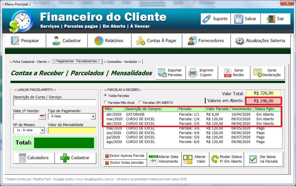 Controle de Mensalidades - Baixa de Pagamentos Simplificada - Controle de Mensalidades e Controle de Pagamentos