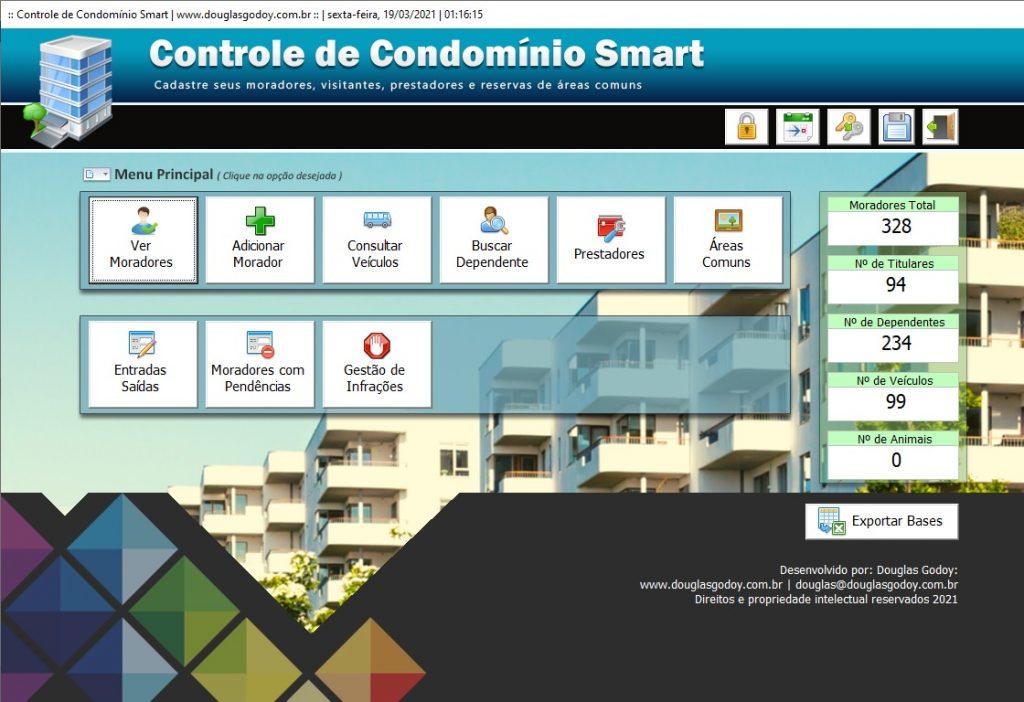 Planilha de cadastro e controle de moradores para condomínio