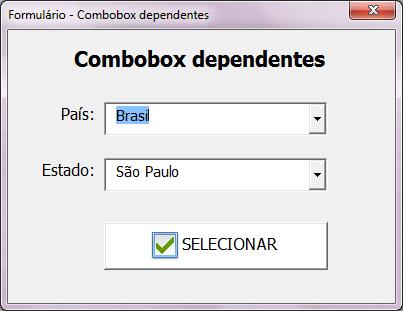 Como criar um combobox dependente no VBA Excel